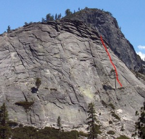 Lover's Leap, Hogsback - Manic Depressive Direct 5.5 - Lake Tahoe, California, USA. Click to Enlarge