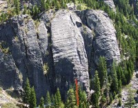 Lover's Leap, Lower Buttress - Pillar of Society 5.12a - Lake Tahoe, California, USA. Click to Enlarge