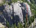 Lover's Leap, Lower Buttress - Sinbad-Herbert 5.10b - Lake Tahoe, California, USA. Click for details.