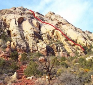 Angel Food Wall - Group Therapy 5.7 R - Red Rocks, Nevada USA. Click to Enlarge