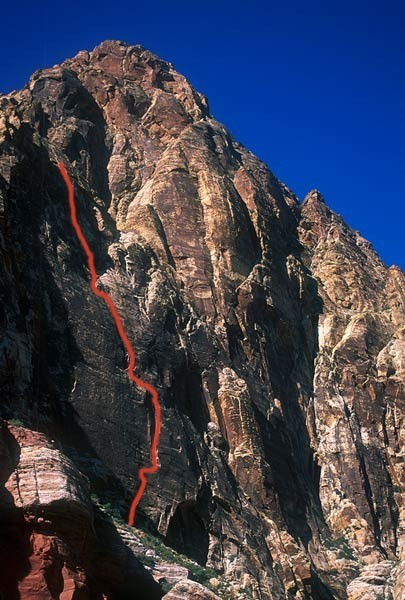 Over 1000 feet of amazing climbing on Black Velvet Wall.