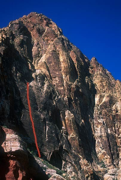 Prince of Darkness is a classic bolted face route up Black Velvet Wall...