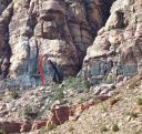 Brass Wall - Varnishing Point 5.8 - Red Rocks, Nevada USA. Click for details.