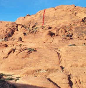 Calico Hills - Great Red Book 5.8 R - Red Rocks, Nevada USA. Click to Enlarge