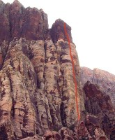 Cloud Tower - Crimson Chrysalis 5.8 - Red Rocks, Nevada USA. Click to Enlarge