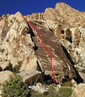 Lotta Balls Wall - Lotta Balls 5.8 - Red Rocks, Nevada USA. Click to Enlarge