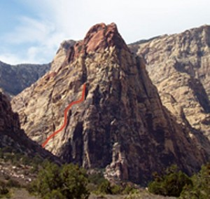 Mescalito South - Cat in the Hat 5.6 - Red Rocks, Nevada USA. Click to Enlarge