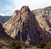 Mescalito North - Dark Shadows 5.8 - Red Rocks, Nevada USA. Click to Enlarge