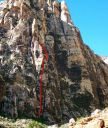 Mescalito - Y2K 5.10b - Red Rocks, Nevada USA. Click for details.