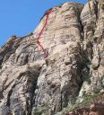 Solar Slab Wall - Solar Slab 5.6 - Red Rocks, Nevada USA. Click for details.
