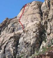 Solar Slab Wall - Solar Slab 5.6 - Red Rocks, Nevada USA. Click to Enlarge