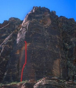 Whiskey Peak - Ixtlan 5.11c - Red Rocks, Nevada USA. Click to Enlarge