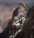 Whiskey Peak - Only the Good Die Young 5.11c - Red Rocks, Nevada USA. Click for details.