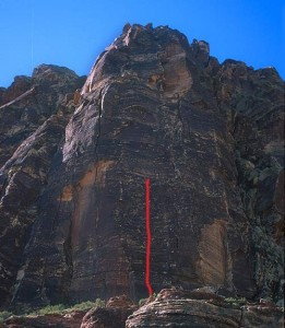 Whiskey Peak - Sand Felipe 5.10a - Red Rocks, Nevada USA. Click to Enlarge