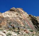 Windy Peak, East Face - Diet Delight 5.9 - Red Rocks, Nevada USA. Click for details.