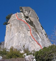 Phantom Spires, Upper Spire - Gingerbread 5.7 - Lake Tahoe, California, USA. Click to Enlarge