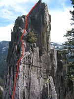 Phantom Spires, Upper Spire - North Ridge 5.6 - Lake Tahoe, California, USA. Click to Enlarge