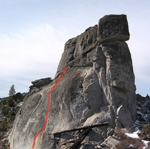 Phantom Spires, Middle Spire - Tyro's Testpiece 5.5 - Lake Tahoe, California, USA. Click to Enlarge