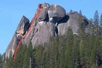 Sugarloaf - Harding's Chimney 5.8 - Lake Tahoe, California, USA. Click to Enlarge