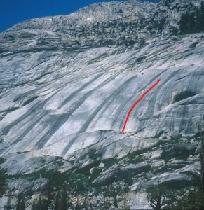 Block Area - Obviously Not 5.7 R - Tuolumne Meadows, California USA. Click to Enlarge