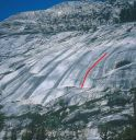 Block Area - Fuel Rod 5.10c - Tuolumne Meadows, California USA. Click for details.
