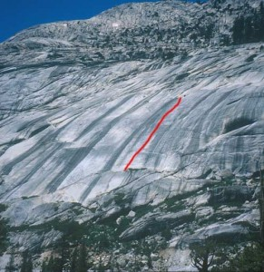 Bunny Slopes - Black Diamond 5.9 R - Tuolumne Meadows, California USA. Click to Enlarge