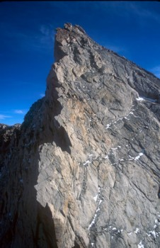 Mt. Conness - North Ridge 5.6 - Tuolumne Meadows, California USA. Click to Enlarge