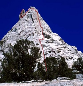 Eichorn's Pinnacle - West Pillar 5.9 - Tuolumne Meadows, California USA. Click to Enlarge