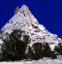 Eichorn's Pinnacle - West Pillar 5.9 - Tuolumne Meadows, California USA. Click for details.