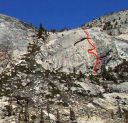 Harlequin Dome - No Rock Nazis 5.11c - Tuolumne Meadows, California USA. Click for details.