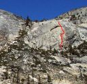 Harlequin Dome - The Sting 5.10b R - Tuolumne Meadows, California USA. Click for details.