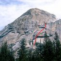 Lamb Dome - Carpet Crawler 5.10a R/X - Tuolumne Meadows, California USA. Click for details.