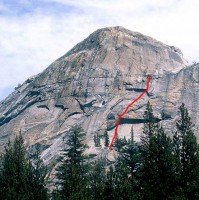 Lamb Dome - Tectonomagmatic 5.10b - Tuolumne Meadows, California USA. Click to Enlarge