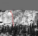 Phobos-Deimos Cliff - Blues Riff 5.11b - Tuolumne Meadows, California USA. Click for details.