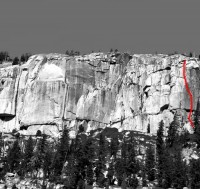 Phobos-Deimos Cliff - Deimos 5.9 - Tuolumne Meadows, California USA. Click to Enlarge