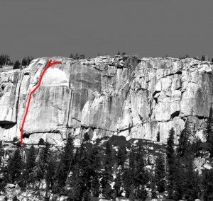 Phobos-Deimos Cliff - Phobos 5.9 - Tuolumne Meadows, California USA. Click to Enlarge