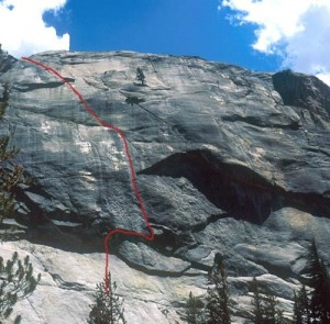 Pywiack Dome - Aqua Knobby 5.8R - Tuolumne Meadows, California USA. Click to Enlarge