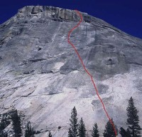 Pywiack Dome - Needle and Spoon 5.10a R- - Tuolumne Meadows, California USA. Click to Enlarge
