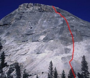 Pywiack Dome - Zee Tree 5.7 - Tuolumne Meadows, California USA. Click to Enlarge