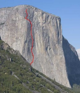 El Capitan - Aquarian Wall A3 5.7 - Yosemite Valley, California USA. Click to Enlarge