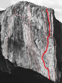 El Capitan - Muir Wall A2 5.9 - Yosemite Valley, California USA. Click to Enlarge
