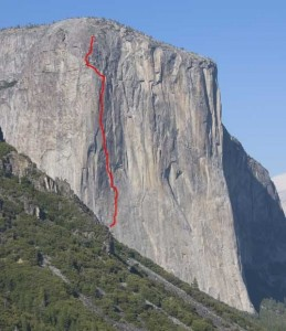 El Capitan - Never Never Land A3 5.7 - Yosemite Valley, California USA. Click to Enlarge