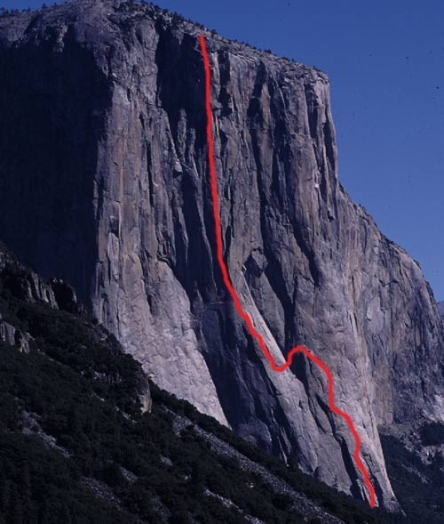 The Salathé Wall ascends the most natural line up El Cap.