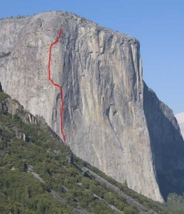 El Capitan - West Buttress A3 5.9 or 5.13c - Yosemite Valley, California USA. Click to Enlarge