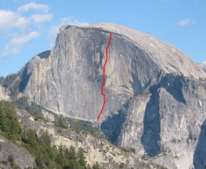 Half Dome - Tis-sa-ack A3 5.9 - Yosemite Valley, California USA. Click to Enlarge