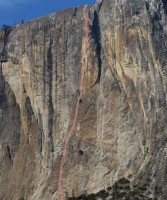 Lost Arrow Spire - Lost Arrow Spire Direct C2 5.8 - Yosemite Valley, California USA. Click to Enlarge