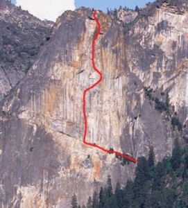 Leaning Tower - West Face C2F 5.7 - Yosemite Valley, California USA. Click to Enlarge