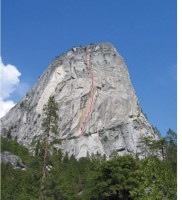 Liberty Cap - Southwest Face C2 5.8 - Yosemite Valley, California USA. Click to Enlarge