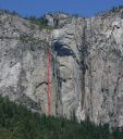 Ribbon Fall Wall - Gold Wall C2 5.9 - Yosemite Valley, California USA. Click for details.