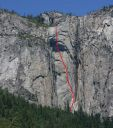 Ribbon Fall Wall - Reason Beyond Insanity A3+ 5.7 - Yosemite Valley, California USA. Click for details.